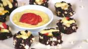 Japanese Black Rice Fruit Nori Rolls With Mango Sauce