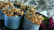 Blackberry Muffins With Crumble Topping