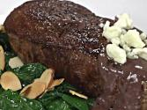 Blackened Steak And Blue Cheese Wine Sauce With Gabbiano Chianti