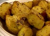 Blanched And Roasted Potatoes
