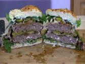 Smokingpit.com - Blue Cheese Mushroom &amp; Swiss Buffalo Burger Santa Maria Grilled On The Scottsdale