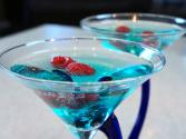 Blue Sparkler - New Years Cocktail