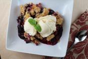 Plum And Blueberry Crisp