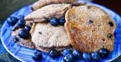 Low Fat Vegan Blueberry Pancakes