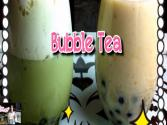 Boba : Bubble Tea (boba Tea) With Mangosteen And Green Tea
