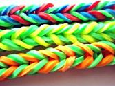 How To Make Super Easy 4 Sided Fishtail Stretchy Bracelets With Hair Bands And Clothes Pins