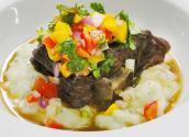 Cuban Braised Lamb With Sangria Reduction Sauce