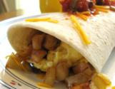 Breakfast Burritos  With Scrambled Egg And Chorizo Sausage