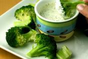 Broccoli With Lemon Chive Sauce