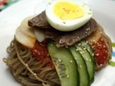 Korean Food: Spicy Cold Buckwheat Noodles ( )