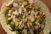 Brussels Sprouts With Almonds & Chili Oil