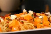 Linguine Pasta With Butternut Squash And Cheese