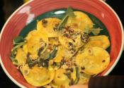 Butternut Squash Ravioli With Brown Butter Sage Sauce And Roasted Hazelnuts 