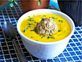 Roasted Butternut Squash Soup With Chicken Meatballs