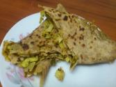 Homemade Cabbage Paratha