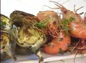California Spot Prawns With Grilled Baby Artichokes