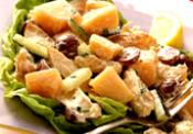 Chicken Salad In Cantaloupe Boats