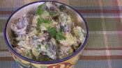 Colorful Potato Salad With Pickles And Celery
