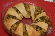 Curried Cauliflower And Peas Pie