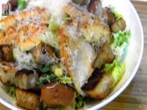 Caesar Salad : Chiken Caesar Salad With Homemade Dressing