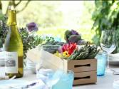 Entertaining At Home: Edible Table Centerpiece Recipe Using Vegetables And Bento Boxes