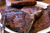 Charcoal Grilled T-bone Steak