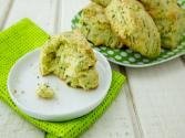 Easy St. Patrick's Day Recipes - Dye Free Cheddar Cheese Green Scones