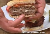 Cheese Stuffed Grilled Hamburger