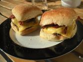 Low Fat roast Beef Bacon Cheeseburger&#039;