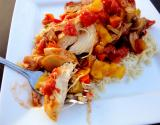 Chicken And Peaches Picante