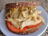 Mock Chicken Sandwich With Honey Mustard Dressing