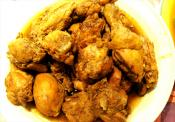 Chicken Stewed In Red Wine