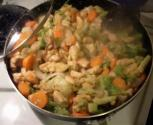 Microwave Stir-fried Vegetables With Chicken