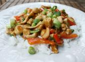 Chicken Stir Fry With White Jasmine Rice