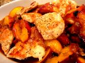 Orange Glazed Chicken &amp; Peaches