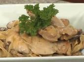 Sauteed Chicken In Mushroom Tarragon Sauce