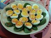 Chili Stuffed Eggs