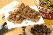 Milk Chocolate Raisin Caramel Bars