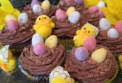 Easter Chocolate Flavored Cupcakes