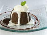 Chocolate Lava Cake With Whipped Cream