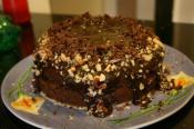 Chocolate Peanut Ripple Cake