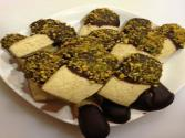 Chocolate & Pistachio Dipped Sugar Cookies