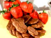 Chocolate Cookies With Strawberries