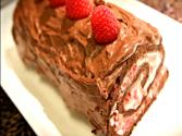 Raspberry Yogurt Chocolate Roll  