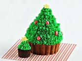 Christmas Tree Brownie Bites