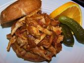 Citrus Barbeque Pulled Chicken Sandwiches