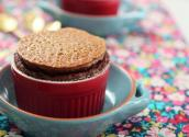 How To Make Classic Chocolate Soufflé W/ Praline On Top