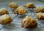 Solar Cooked Coconut Macaroons