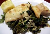 Simple Cod On Kale