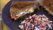 Toasted Sandwich With Soy Cheese And Coleslaw 